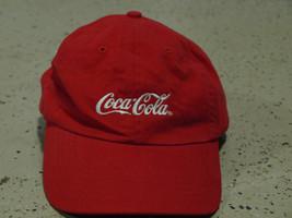 Vintage Coca Cola Red Baseball Cap Hat Quake City Caps retro/collectable - $7.19