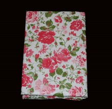 Laura Ashley RAMONA Vinyl Flannel Back Rect or Round Pink Roses Tableclo... - €17,12 EUR+