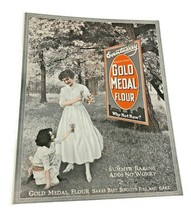 Vintage Gold Medal Flour Baking  Kitchen Art Decor Print Ad Direct from Gm - $28.49