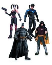 Arkham City: Harley Quinn, Batman, Nightwing, & Robin Action Figure 4-Pack - $114.97