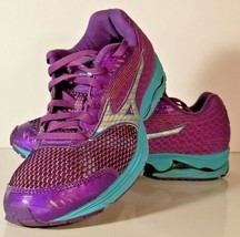 NICE Mizuno Wave Sayonara sz 7.5 Running Shoes Purple & Blue Great Shape! V4ic - $34.64