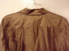 Worthington Women's Petite Size 10 10P Shirt Silk Button Down Top Brown Striped image 6