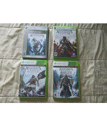 Lot of 4 Assassins Creed Games Xbox 360 - 1 2 Black Flag Rogue - Complete - $14.20