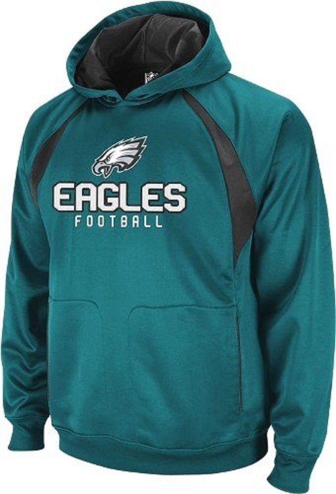 Philadelphia Eagles NFL Reebok Midnight Green YOUTH Hoodie Active Hood Pullover