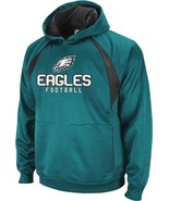 Philadelphia Eagles NFL Reebok Midnight Green YOUTH Hoodie Active Hood P... - $790,84 MXN