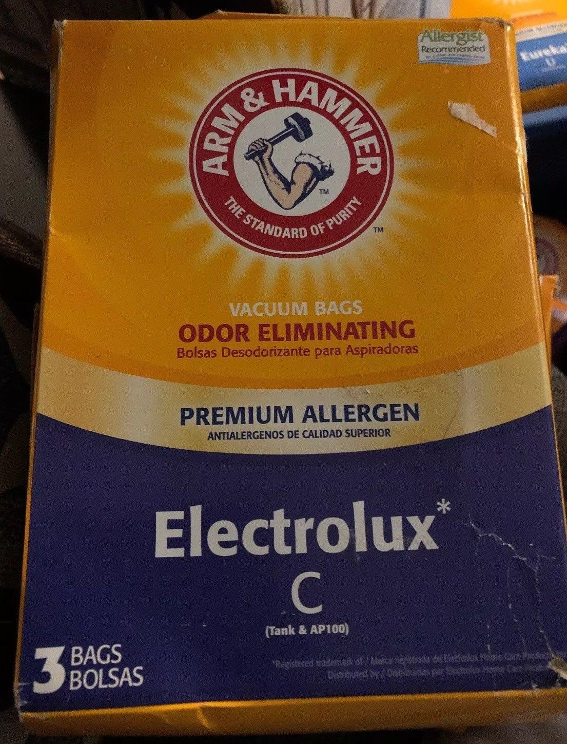 Arm & Hammer Odor Eliminating Vacuum Cleaner Bags Electrolux C Premium Allergen