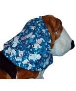 Patriotic Pups Sparkle Cotton Dog Snood Basset Hound Springer Spaniel Si... - $12.50