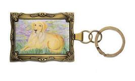 Golden Retriever Keychain Mini Painting Masterpiece Dog Frame Bonet Paw ... - $13.85