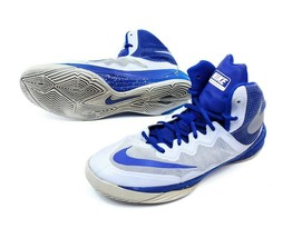 Nike Prime Hype DF II Kids Size 7 Grey Blue Basketball Shoes Youth 80761... - $21.60