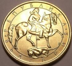Große Gem UNC Bulgarien 1992 5 Leva ~Madara Horseman~ Design - $6.04