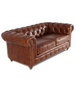 MarquessLife 100% Genuine Antique Leather Tufted Handmade Couch  Lovesea... - $3,017.50