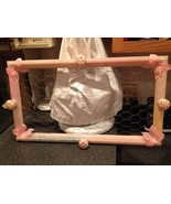 Wire Mesh Sparkle Glitter Pink Butterfly Picture Frame Earring Holder Or... - $27.99
