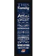 "Wheaton College ""Thunder""- 24 x 8 Family Cheer Framed Print - $39.95"