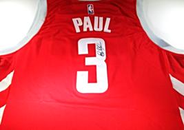 CHRIS PAUL / 9 X NBA ALL-STAR / AUTOGRAPHED HOUSTON ROCKETS PRO STYLE JERSEY COA image 1