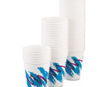 Dart Jazz Paper Hot Cups, 8oz, Polycoated, 50/Bag, 20 Bags/Carton