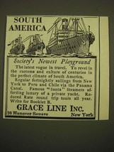 1924 Grace Line Ad - South America Society's newest playground - $14.99