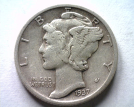 1937-S MERCURY DIME VERY FINE / EXTRA FINE VF/XF VERY FINE /EXTREMELY FI... - $8.00