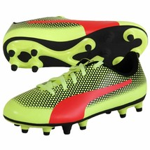 new PUMA SPIRIT FG JR Soccer Cleats sz 5 37 Kids Youth football shoes yellow - $34.55