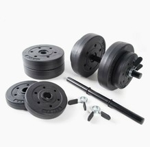 Gold's Gym 40 Pound LB Vinyl Cement Dumbbell Weight Set RSV-GG42-2 - $101.92