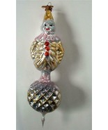 Bethany Lowe German Glass Xmas Ornament Antique Design Clown On Ball 5.5... - $34.64