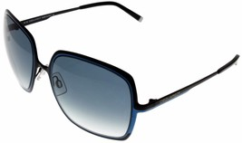 New Dsquared Sunglasses Women Black Blue 100% UV Protection Square DQ001... - $113.85