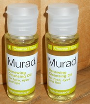 2-Murad Renewing Cleansing Oil for Face Eyes & Lips 1 oz x 2 - $5.93