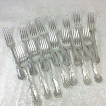 "Set of 15 Rogers Bros Alhambra Dinner Forks 7 3/8"" Long Silverplate Lot - $90.21"