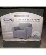Perfect Fit NeverWet Luxury Chair Slipcover in Grey - $42.99