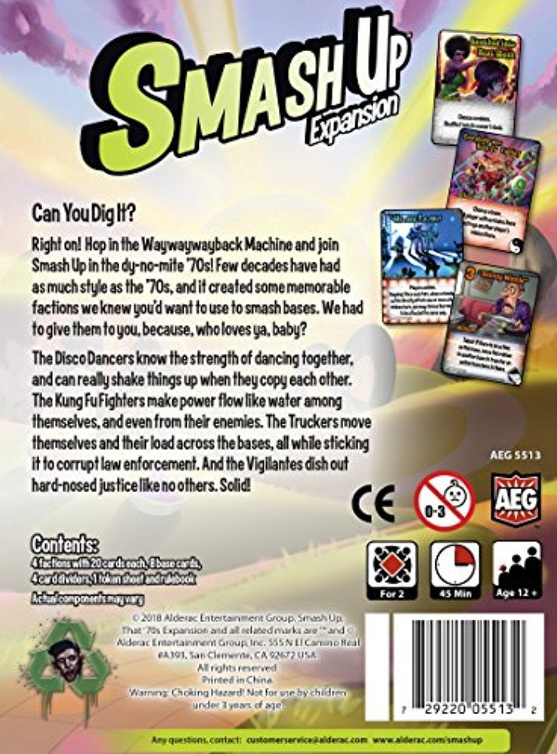 Smash Up Board Game That '70s Expansion Alderac Entertainment Group AEG5513