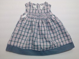 The Children's Place Baby Girl's Dress 3-6 months Plad Pink Gray White - $11.11