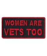 Motorcycle Biker Jacket/Vest Embroidered Patch - Women Are Vets Too - Ve... - $6.99