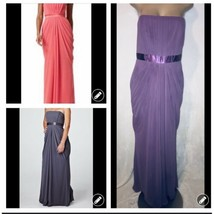 Davids Bridal Purple Wisteria Bridesmaid Strapless Chiffon F13723 Dress ... - $29.99