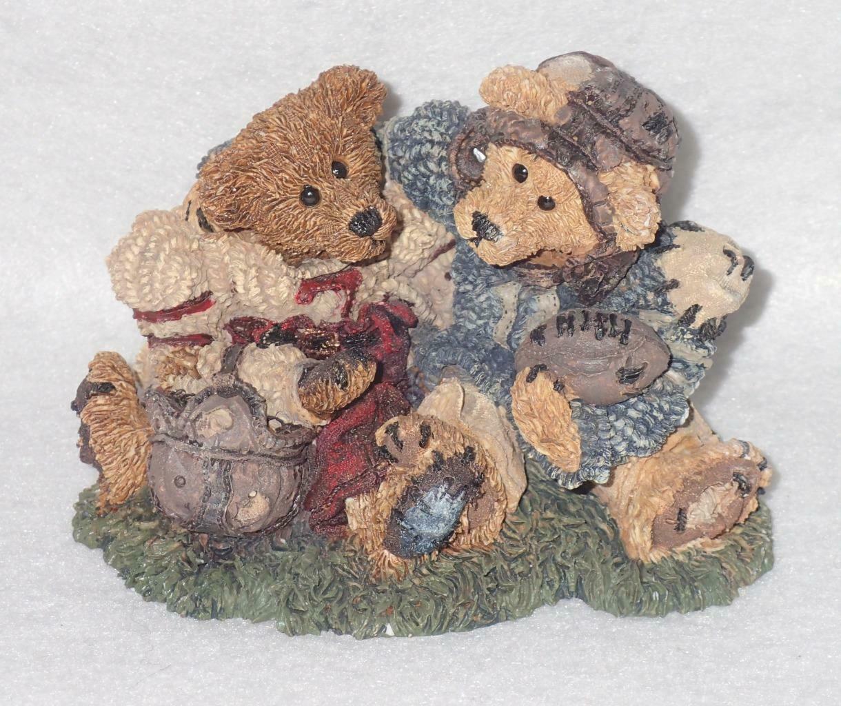 Boyd Bearstone Resin Bears Grenville & Knute Football Buddies Figurine #2255
