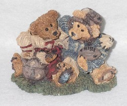 Boyd Bearstone Resin Bears Grenville & Knute Football Buddies Figurine #... - $10.35