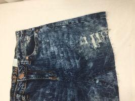 Vip Jeans Acid Wash Skirt Above Knee Regular Fit   Blue Cotton Size 11/12 image 4