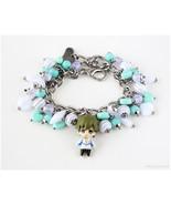 FREE Makoto Charm Bracelet, Teal, White, Anime, Kawaii, Silver Chain - $47.00