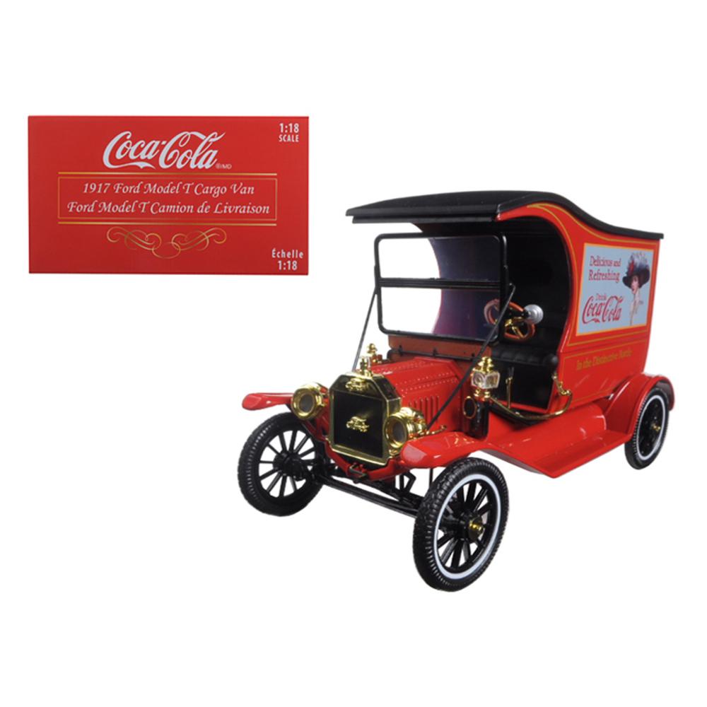 1917 Ford Model T Cargo Van Coca-Cola Drink Delicious 1/18 Diecast Model Car by