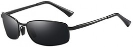 Men's Polarized Sunglasses Rectangular Metal Frame Classic Style Large Size By - $45.44