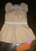 Gymboree NWT 5 tunic top dress Freshly picked peach orange gingham + soc... - $13.36