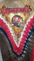 Tampa Bay Buccaneers Tie Dye V Dye T-Shirt Licensed Nfl Team Apparel - $28.99