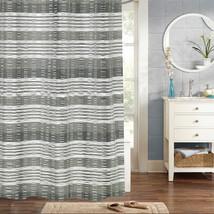 "Huntley 100% Cotton Fabric Woven Jaqcuard Shower Curtain 70"" x 72"" - $30.55"