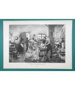 WASHER WOMEN Laundry Room Male Intruder - 1892 Victorian Era Print - $22.46