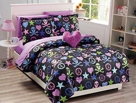 Mk Collection Kids/Teens 8 PC Full Size Peace Signs Hearts Skulls Zebra Print - $132.83