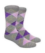 Urban-Peacock Mens Dress,Trouser & Groomsmen Socks -Heather Grey Argyle ... - $69.95