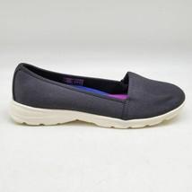 Lands End Womens Gatas Comfort Flat Shoes Black White Round Toe Slip On 7.5 B - $31.67