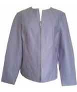90s Vtg Lavender Genuine Leather Grunge Street Style Moto Zipped Ladies ... - $32.00