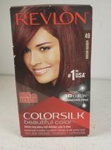 Revlon Colorsilk #49 Auburn Brown Hair Dye Color Rare Ammonia Free 3D COLOR NIB - $9.95