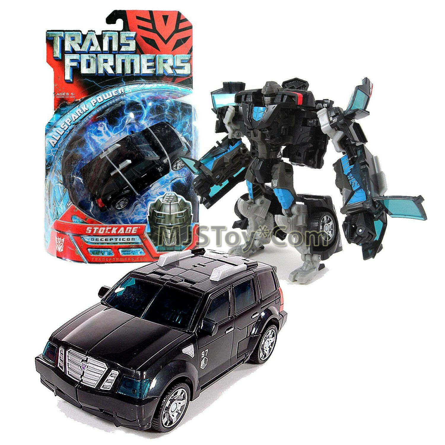 "Year 2007 Transformers 1st Movie All Spark Power Series Deluxe Class 6"" STOCKADE"