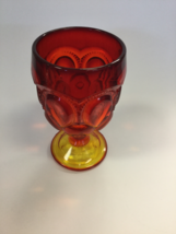 Red amber Smith Glass water glasses - $14.00