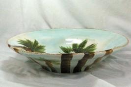 "Tabletops Unlimited Baja 16 1/4"" Salad Serving Bowl Stoneware Palm Trees - $69.29"